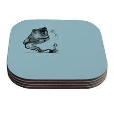 Hot Tub Hunter II by Graham Curran Coaster (Set of 4)