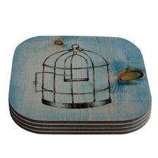 Bird Cage by Brittany Guarino Coaster (Set of 4)