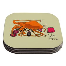 Playful Octopus by Marianna Tankelevich Coaster (Set of 4)