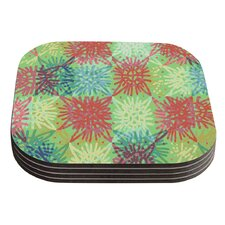 Multi Lacy by Laura Nicholson Coaster (Set of 4)