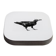 Raven by Sophy Tuttle Coaster (Set of 4)