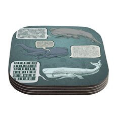 Whale Talk by Sophy Tuttle Coaster (Set of 4)