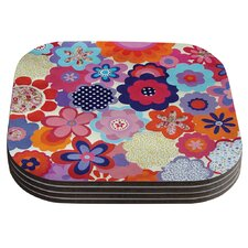 Patchwork Flowers by Louise Machado Coaster (Set of 4)