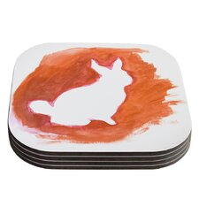 You A Bunny by Theresa Giolzetti Coaster (Set of 4)