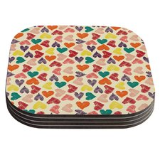 Little Hearts by Louise Machado Coaster (Set of 4)