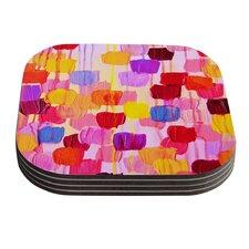 Dotty in Pink by Ebi Emporium Coaster (Set of 4)