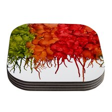 Fall Splatter by Claire Day Coaster (Set of 4)