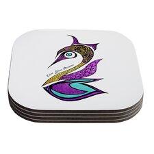 Dreams Swan by Pom Graphic Design Coaster (Set of 4)