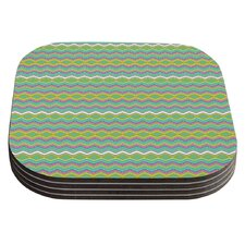 Chevron Love by Nicole Ketchum Coaster (Set of 4)