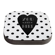 You Are Here by Skye Zambrana Coaster (Set of 4)