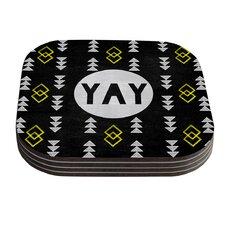 Yay by Skye Zambrana Coaster (Set of 4)