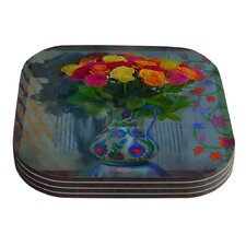 Spring Bouquet by S. Seema Z Coaster (Set of 4)