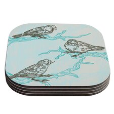 Birds in Trees by Sam Posnick Coaster (Set of 4)