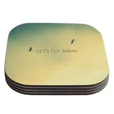 Let's Fly Away by Richard Casillas Coaster (Set of 4)