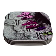 Shoes in SF by Theresa Giolzetti Coaster (Set of 4)