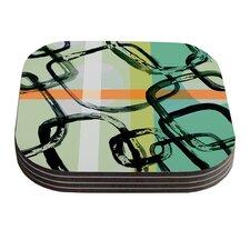 Sixties Stripe by Theresa Giolzetti Coaster (Set of 4)