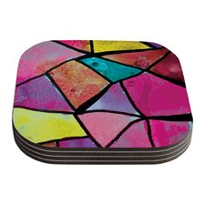 Stain Glass 3 by Theresa Giolzetti Coaster (Set of 4)
