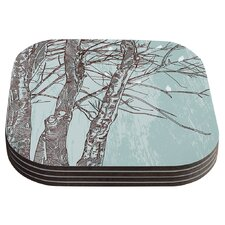 Winter Trees by Sam Posnick Coaster (Set of 4)