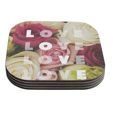 Love Love Love by Libertad Leal Coaster (Set of 4)