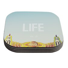 Life is a Rollercoaster by Libertad Leal Coaster (Set of 4)