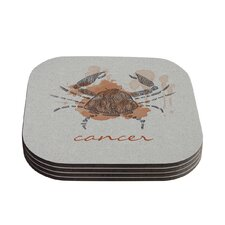 Cancer by Belinda Gillies Coaster (Set of 4)