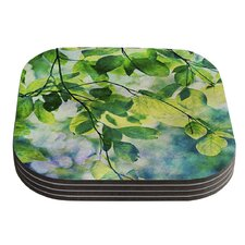 Leaves by Sylvia Cook Coaster (Set of 4)