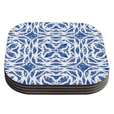 Blue Explosion by Miranda Mol Coaster (Set of 4)
