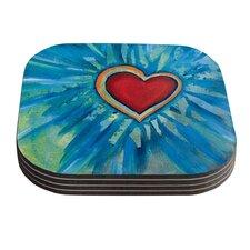 Love Shines On by Padgett Mason Coaster (Set of 4)
