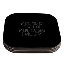 Where You Go by Suzanne Carter Typography Coaster (Set of 4)