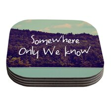 Somewhere by Rachel Burbee Coaster (Set of 4)