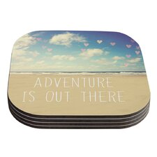 Adventure is Out There by Sylvia Cook Coaster (Set of 4)