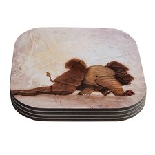 The Elephant with the Long Ears by Rachel Kokko Coaster (Set of 4)
