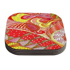 Swirls by Rosie Coaster (Set of 4)
