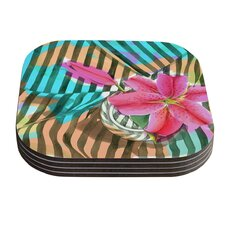 Lilly n Stripes by S. Seema Z Coaster (Set of 4)