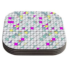 Squares by Michelle Drew Coaster (Set of 4)
