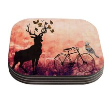 Vintage Forest by Suzanne Carter Coaster (Set of 4)