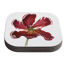 Open Tulip by Lydia Martin Coaster (Set of 4)