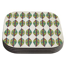 Tribal Leaves by Pom Graphic Design Coaster (Set of 4)