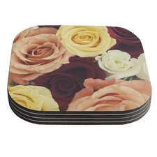 Vintage Roses by Libertad Leal Coaster (Set of 4)