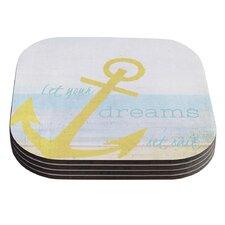 Let Your Dreams Set Sail by Alison Coxon Coaster (Set of 4)