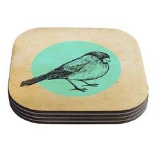 Old Paper Bird by Sreetama Ray Coaster (Set of 4)