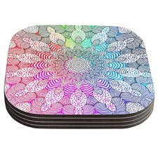 Rainbow Dots by Monika Strigel Coaster (Set of 4)