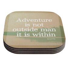 Adventure by Rachel Burbee Nature Typography Coaster (Set of 4)