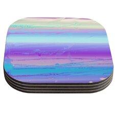 Drip Dye Cool by Nina May Coaster (Set of 4)