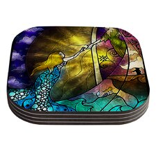 Fairy Tale off to Neverland by Mandie Manzano Coaster (Set of 4)