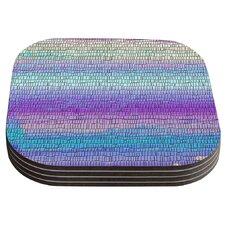 Drip Dye Cool Strid by Nina May Coaster (Set of 4)
