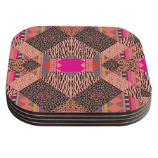 New Wave Zebra by Vasare Nar Coaster (Set of 4)