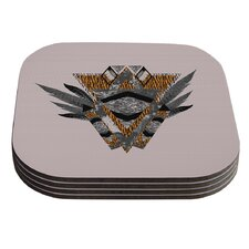Indian Feather by Vasare Nar Coaster (Set of 4)