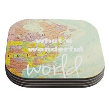 What A Wonderful World by Libertad Leal Coaster (Set of 4)