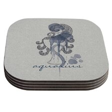Aquarius by Belinda Gillies Coaster (Set of 4)